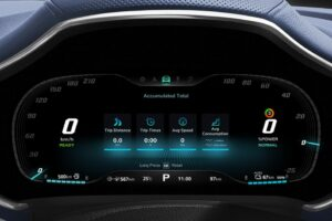 mghs PHEV SUV instrument cluster