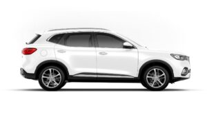 mghs PHEV SUV white full side view