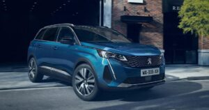 peugeot 5008 2nd generation facelift suv aggressive front view