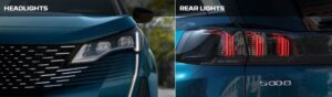peugeot 5008 2nd generation facelift suv headlamp tail light view