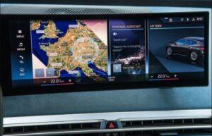 BMW IX Mid Size SUV 1st Generation infotainment screen view