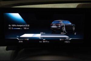 BMW IX Mid Size SUV 1st Generation instrument cluster view