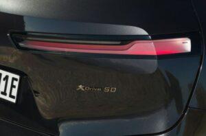 BMW IX Mid Size SUV 1st Generation tail light close view