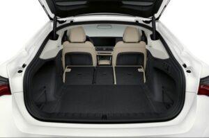 BMW i4 EV 1st generation sedan luggage area view