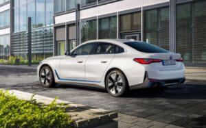 BMW i4 EV 1st generation sedan nice side and rear view