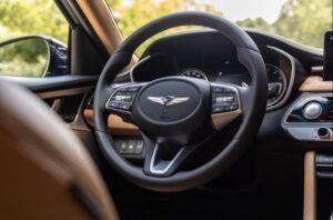 Genesis G70 Sedan 1st Generation facelift steering wheel and controls view