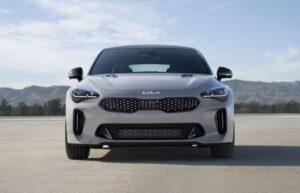 Kia stinger sedan Refreshed 1st generation full front view