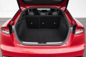 Kia stinger sedan Refreshed 1st generation red luggage area