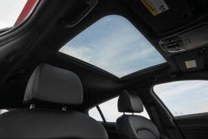Kia stinger sedan Refreshed 1st generation sunroof view