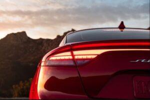 Kia stinger sedan Refreshed 1st generation tail lights view