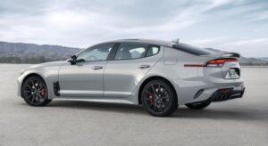 Kia stinger sedan Refreshed 1st generation white full side view