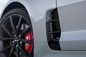 Kia stinger sedan Refreshed 1st generation white style view