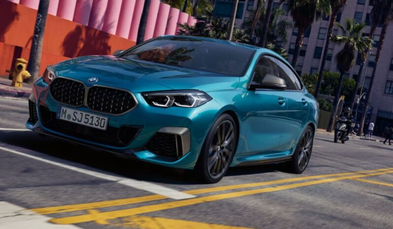 bmw 2 series gran coupe 1st generation front and side view